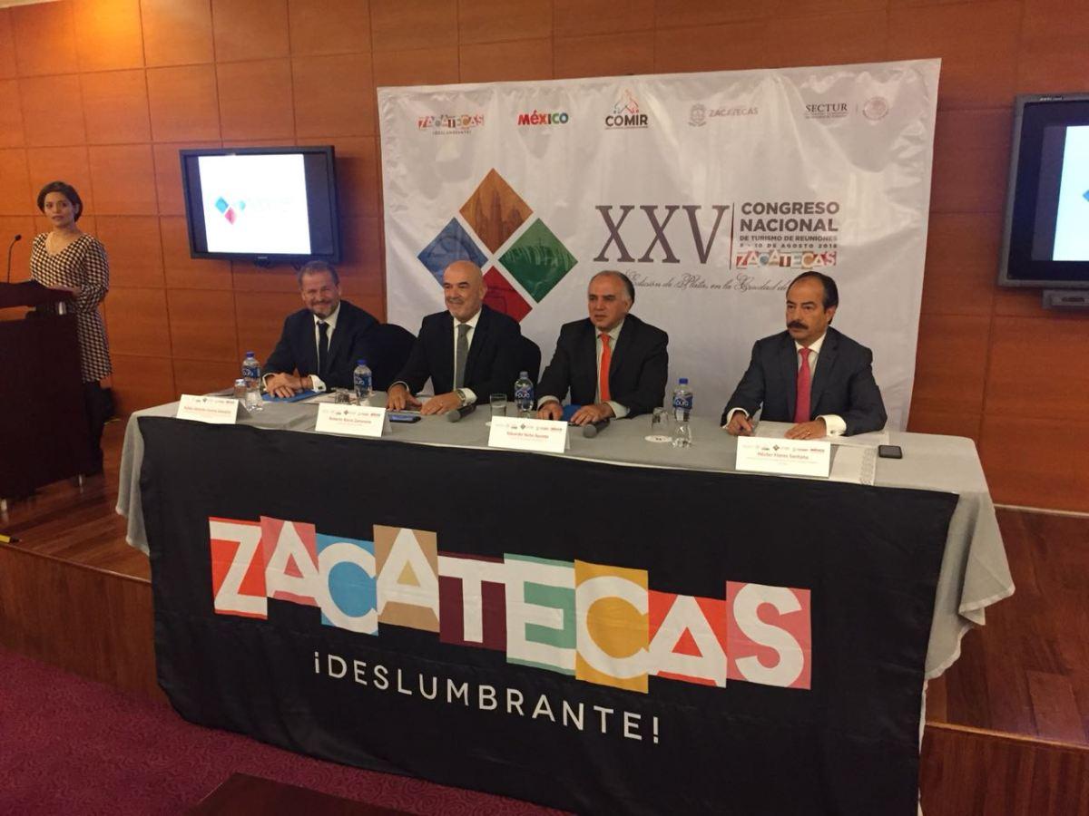 Zacatecas albergará el XXV Congreso Nacional de Turismo de Reuniones